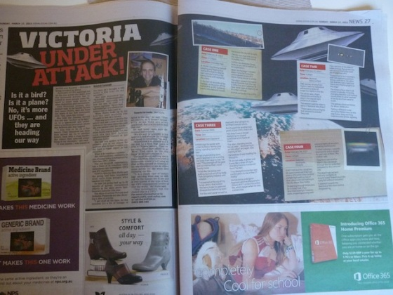Herald Sun alien article