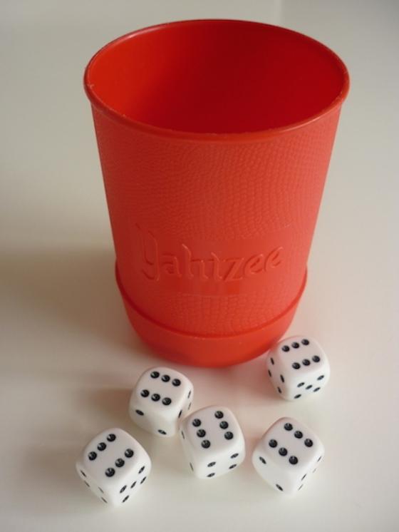 Yahtzee cup